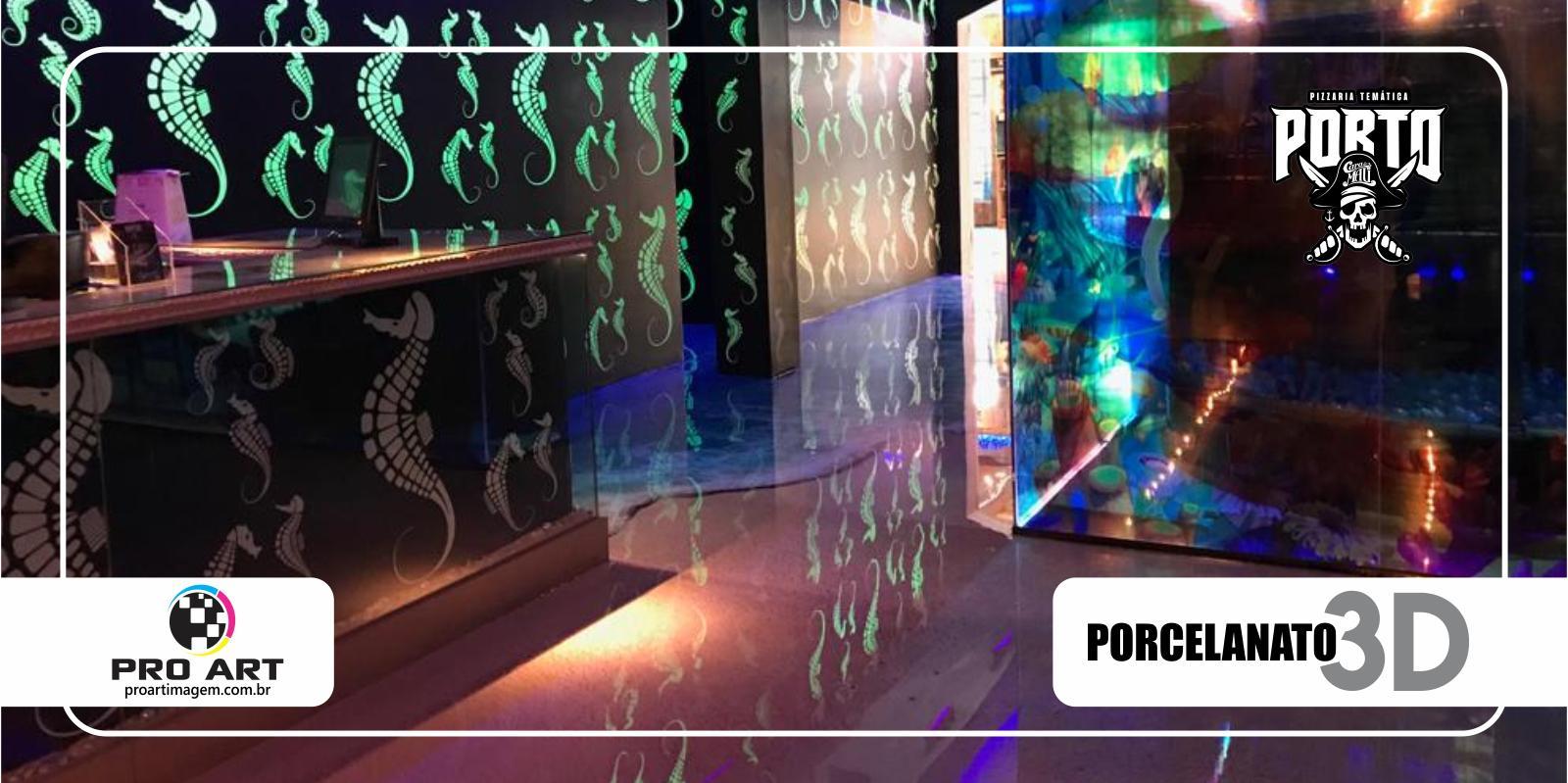 Porcelanato 3D - Porto Cara de Mau